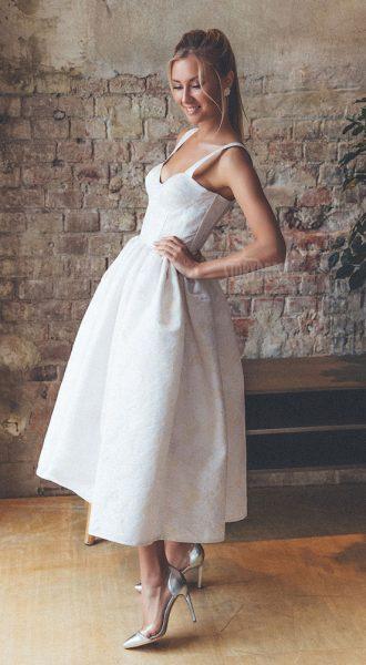 Платье с юбкой-колокол Barbie White