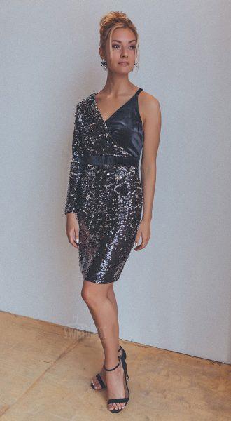 Шикарное короткое платье Nika Black