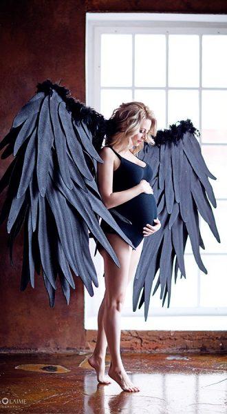 Черное боди для беременных в аренду
