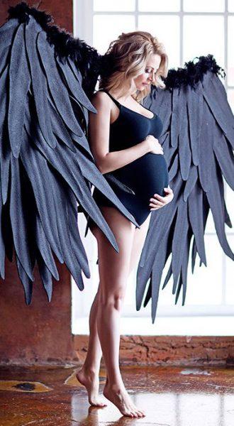 Черное боди для беременных БО-07