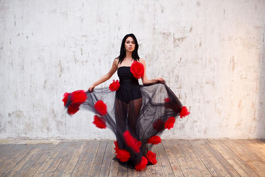 Платье для фотосессии в образе цыганки