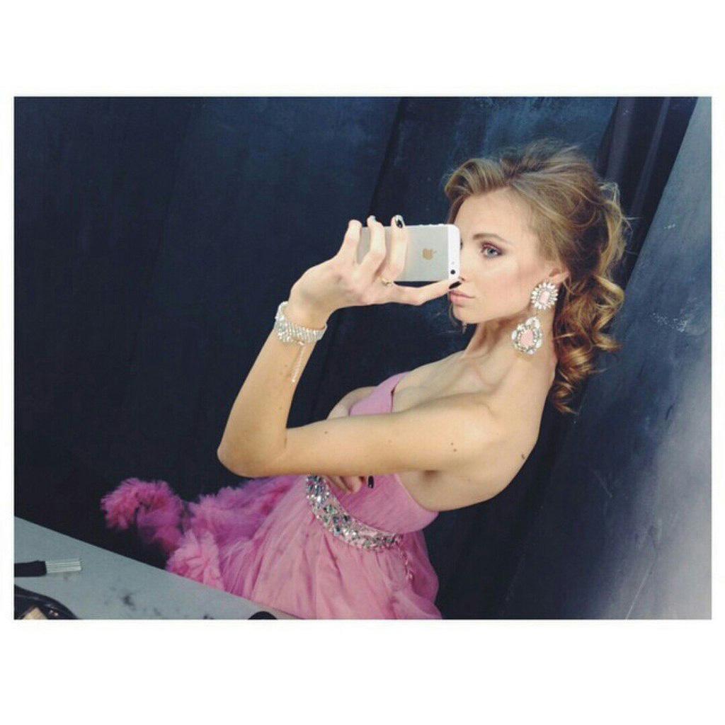 Пышное платье розового цвета аренда