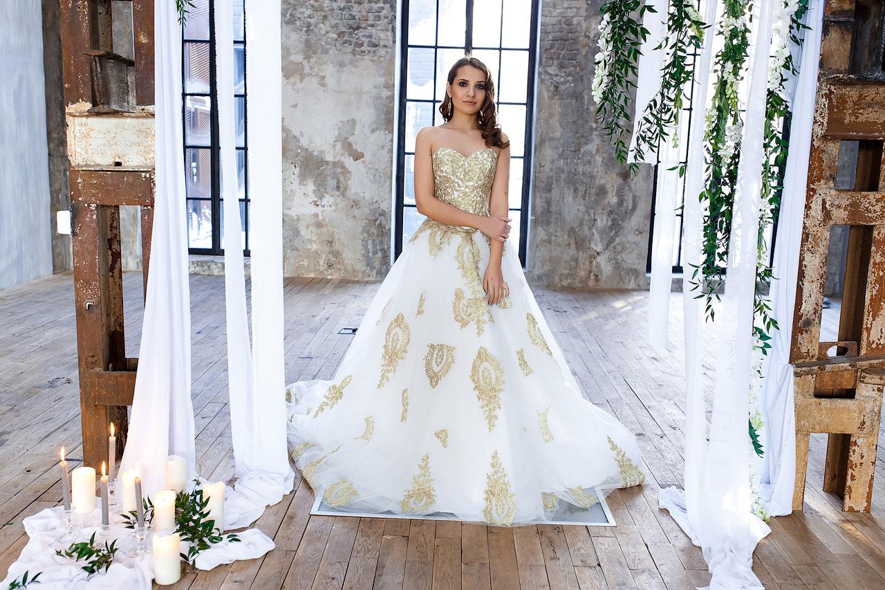 Свадебная фотосессия в белом платье