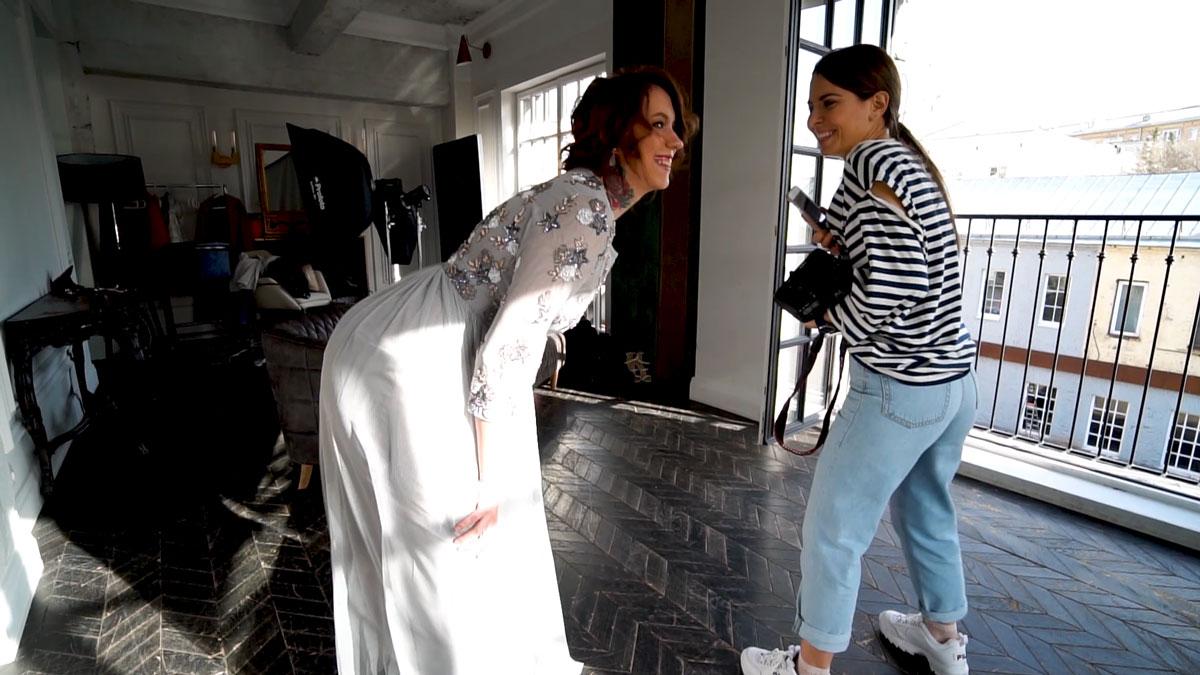 Бэк со съемок каталога Story Dress