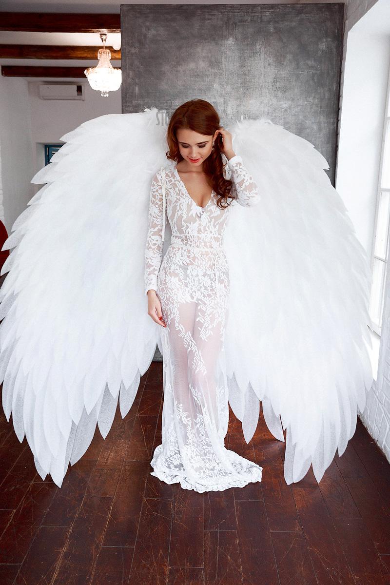 Большие белые крылья ангела WG-03
