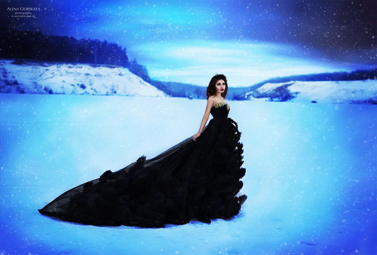 Зимняя фотосессия в сказочном стиле