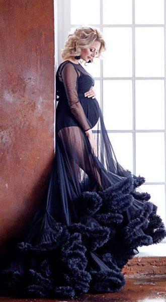 Прозрачное платье-облако для беременных