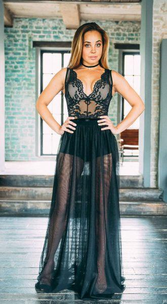 Прозрачная юбка Phantom Black Skirt