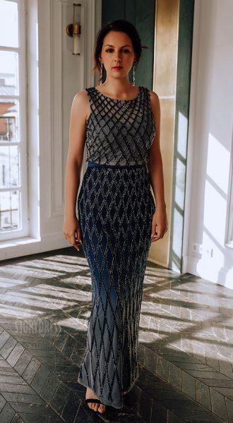 Вечернее платье с эффектом деграде Becca