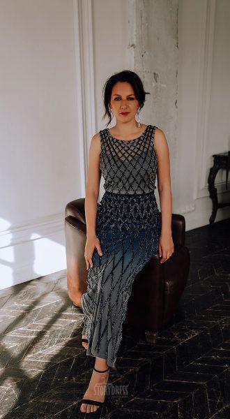 Вечернее платье-деграде для элегантной леди