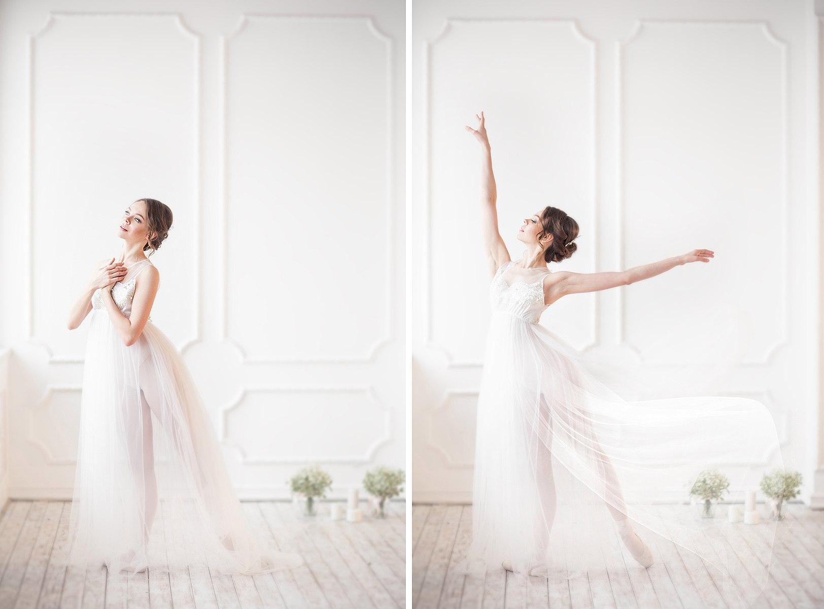 Фотосессия молодой красивой балерины