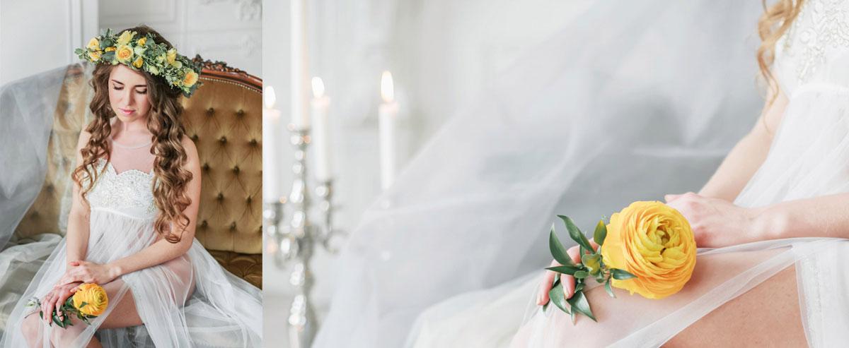 Белое платье для фото
