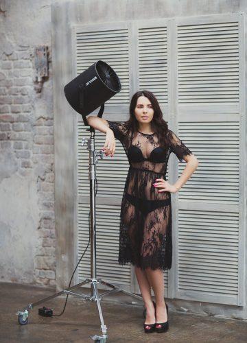 Фотосессия в прозрачном платье