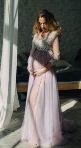 Будуарное платье для фото в ожидании чуда Sophie Lilac