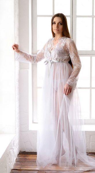 Будуарное платье для фото White Boudoir