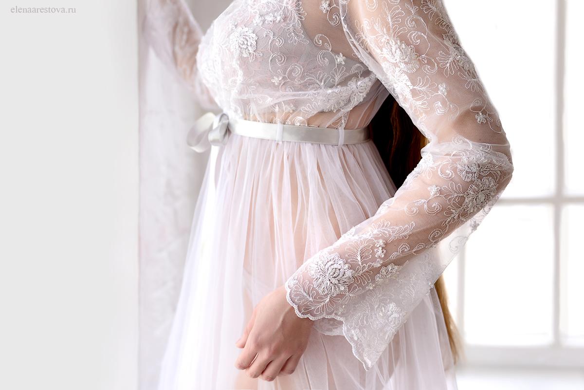 Будуарное платье напрокат