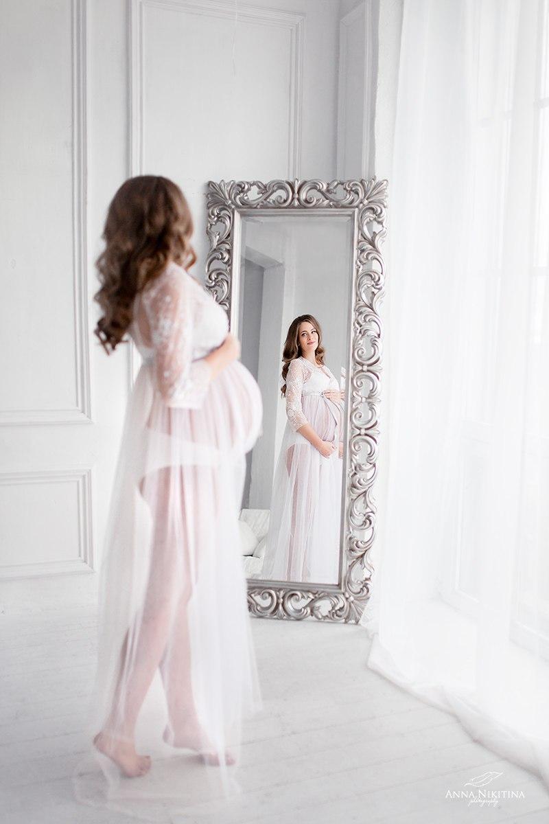Белое платье для беременных аренда