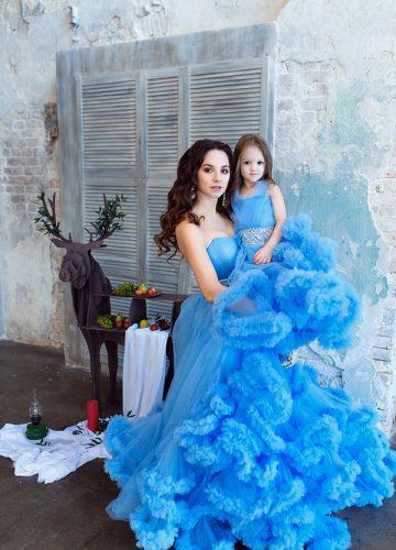 Голубое детское плате на прокат в Москве