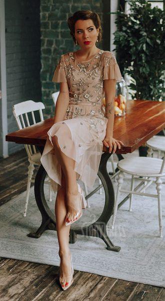 Коктейльное платье с рукавами-бабочкамиEmmie