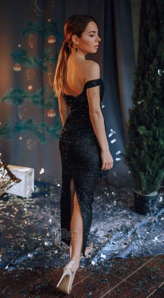 Черное платье-миди Gia Black