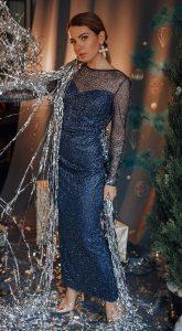 Синее вечернее платье Gwen Blue