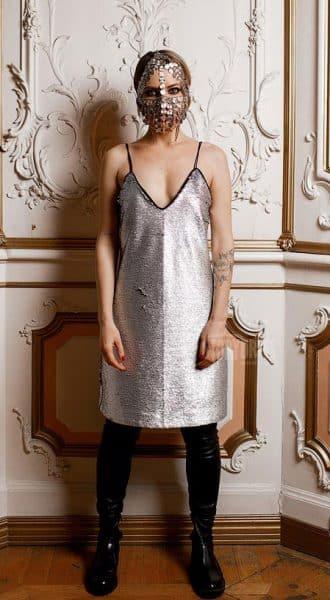 Коктейльное платье с двухсторонними пайетками Kiki