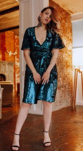 Коктейльное платье-халат Bridget