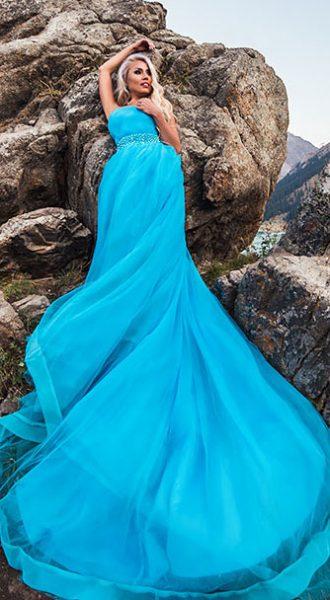Лазурное платье для фотосессии Azure Sky
