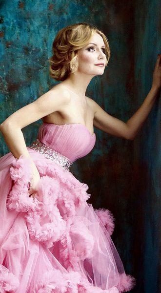 Фотосессия в воздушном розовом платье