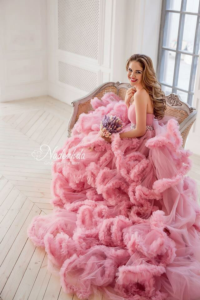 Розовое платье для фотосессии в аренду