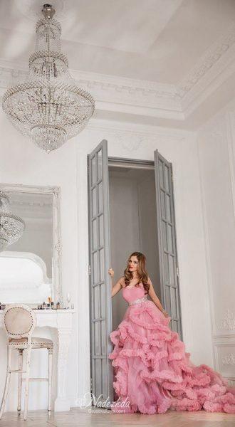 Платье для фотосессии нежного розового оттенка