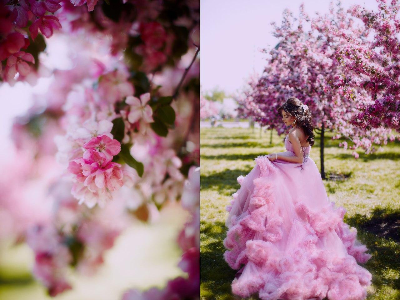 Фотосессия в цветущем парке