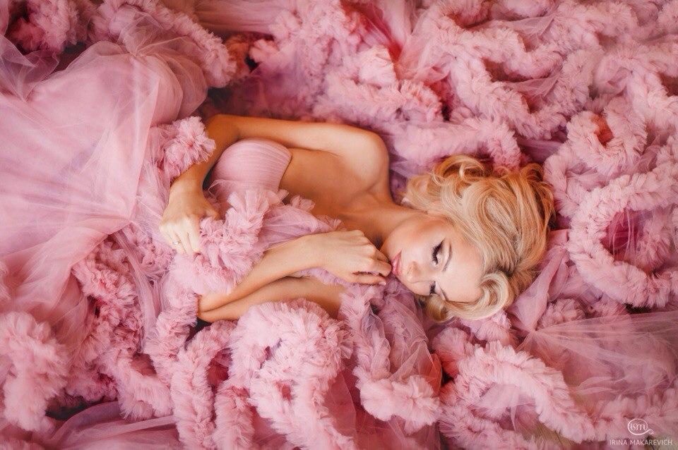 фотосессия в розовом облаке