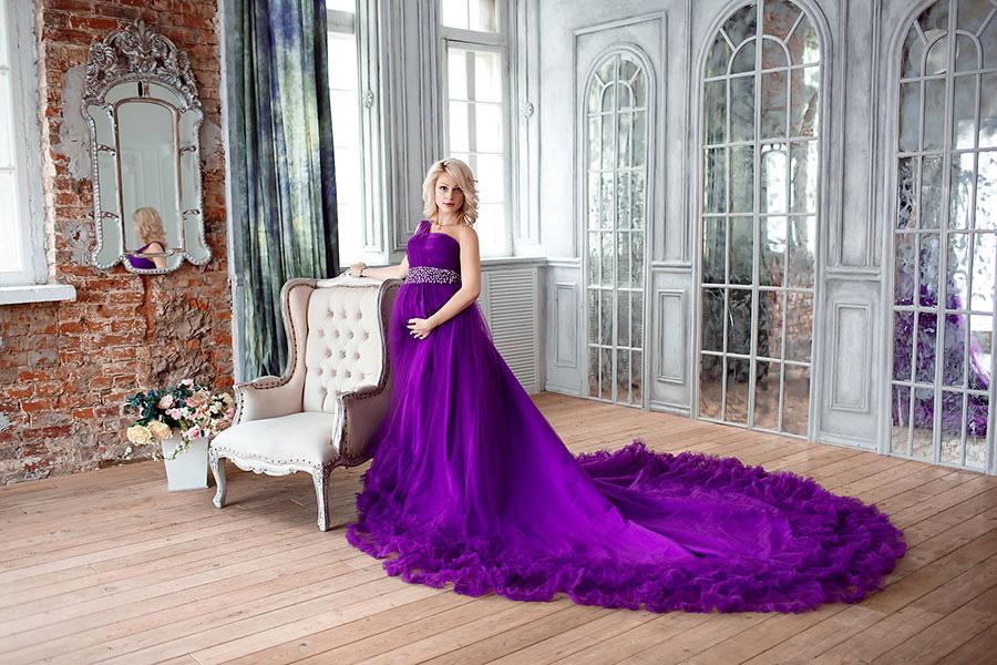 Фотосессия беременности в пышном платье
