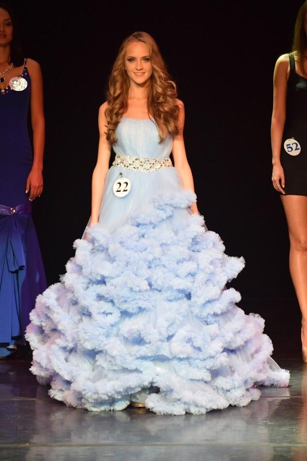 Платье для конкурса акварельно-голубого цвета