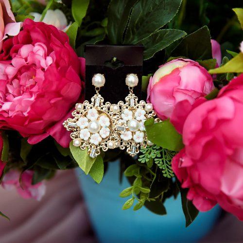 Серьги орден с цветами
