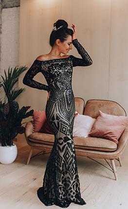 Черное платье напрокат Aisha Black