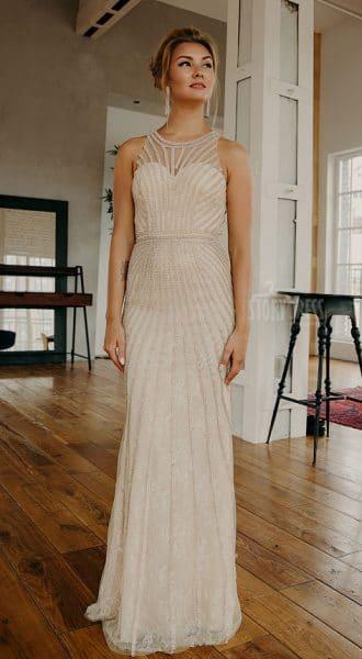 Платье в пол по фигуре American Sun Gold