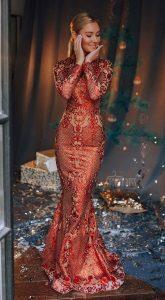 Длинное вечернее платье Cindy Red