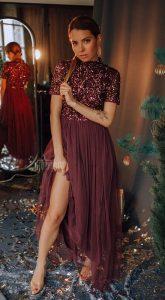 Платье с пышной юбкой Claire