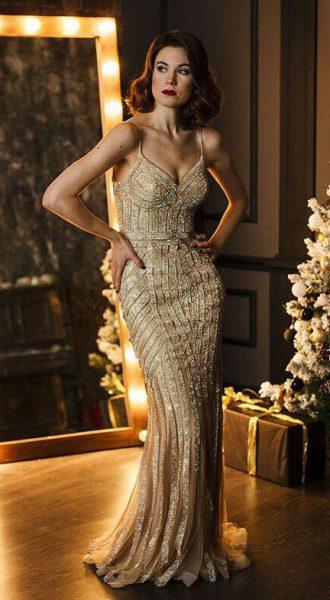 Вечернее платье Dior Gold