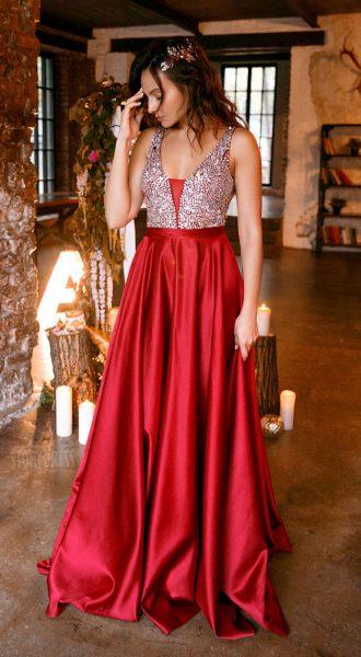Вечернее платье Ellie Bordeaux
