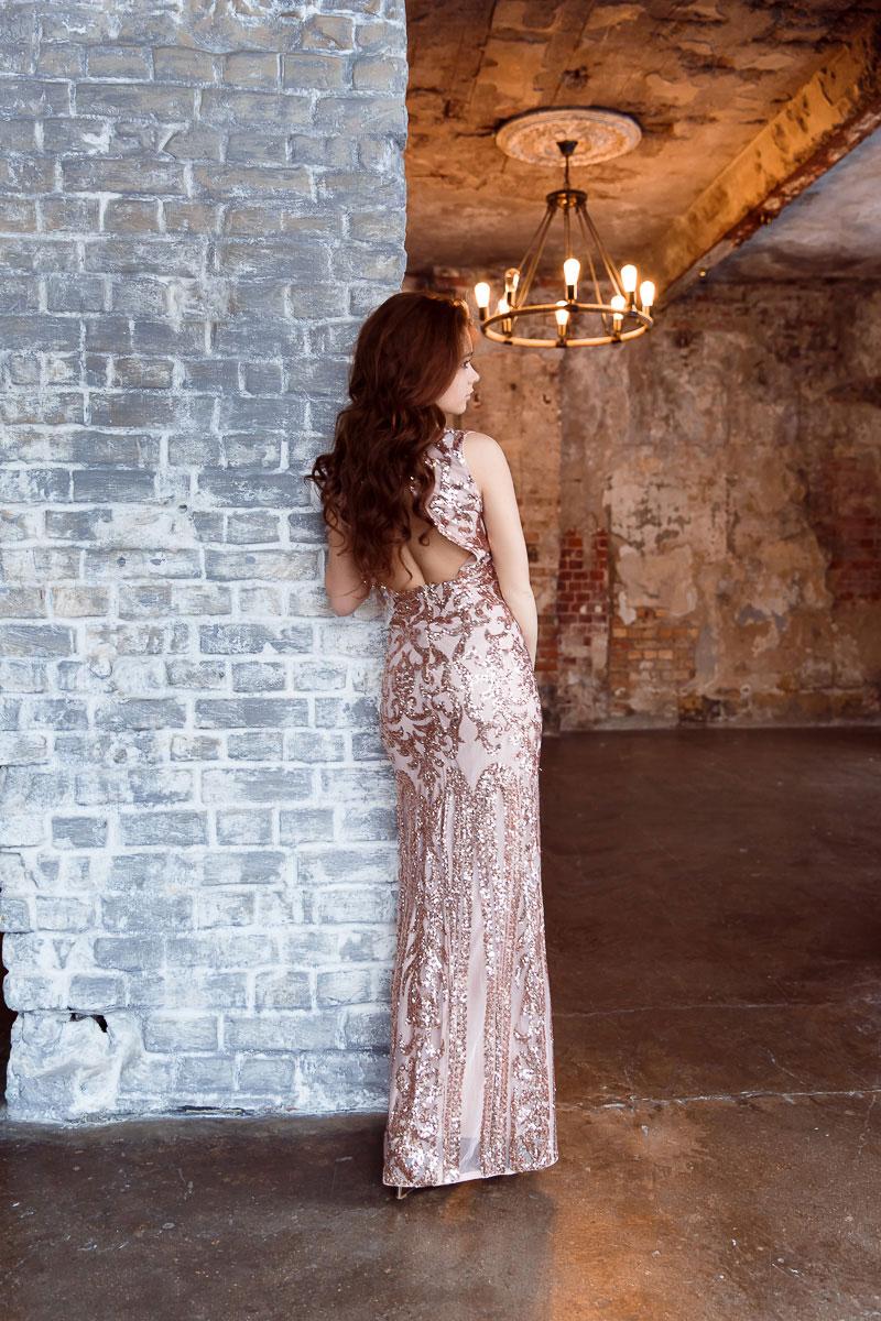 Длинное платье в стиле Dior