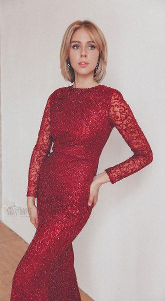 Красное вечернее платье в аренду Москва