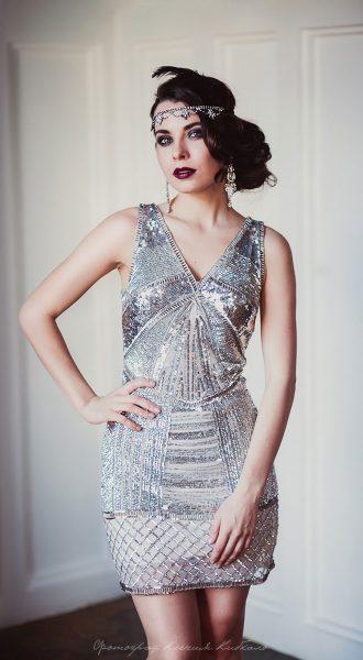 Современное платье в стиле Гэтсби
