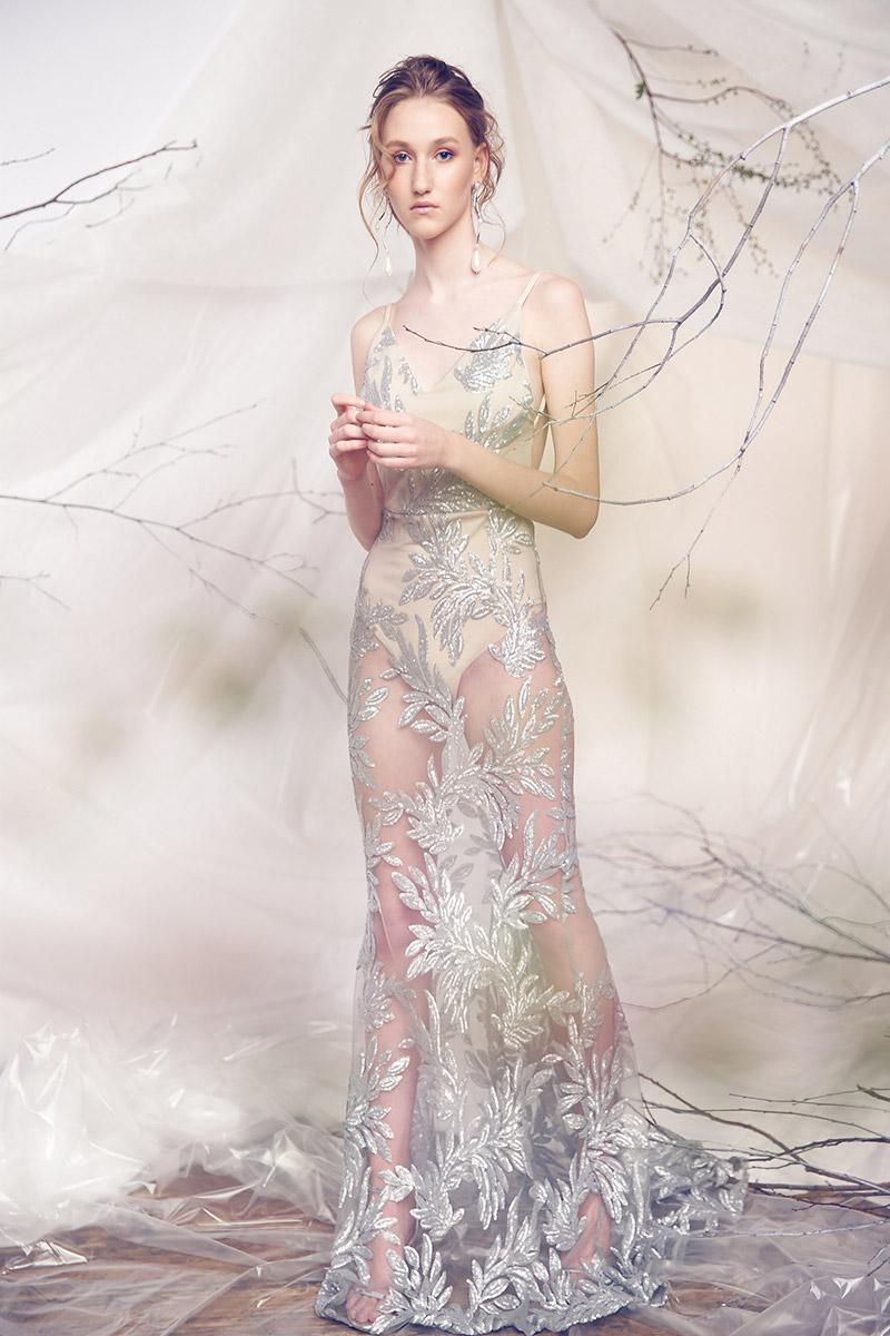 Вечернее платье с прозрачной юбкой Mia