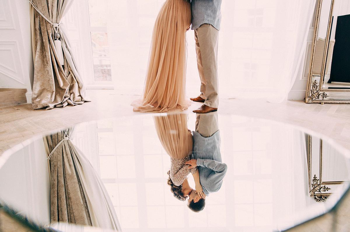 Идея для фото с зеркальным отражением