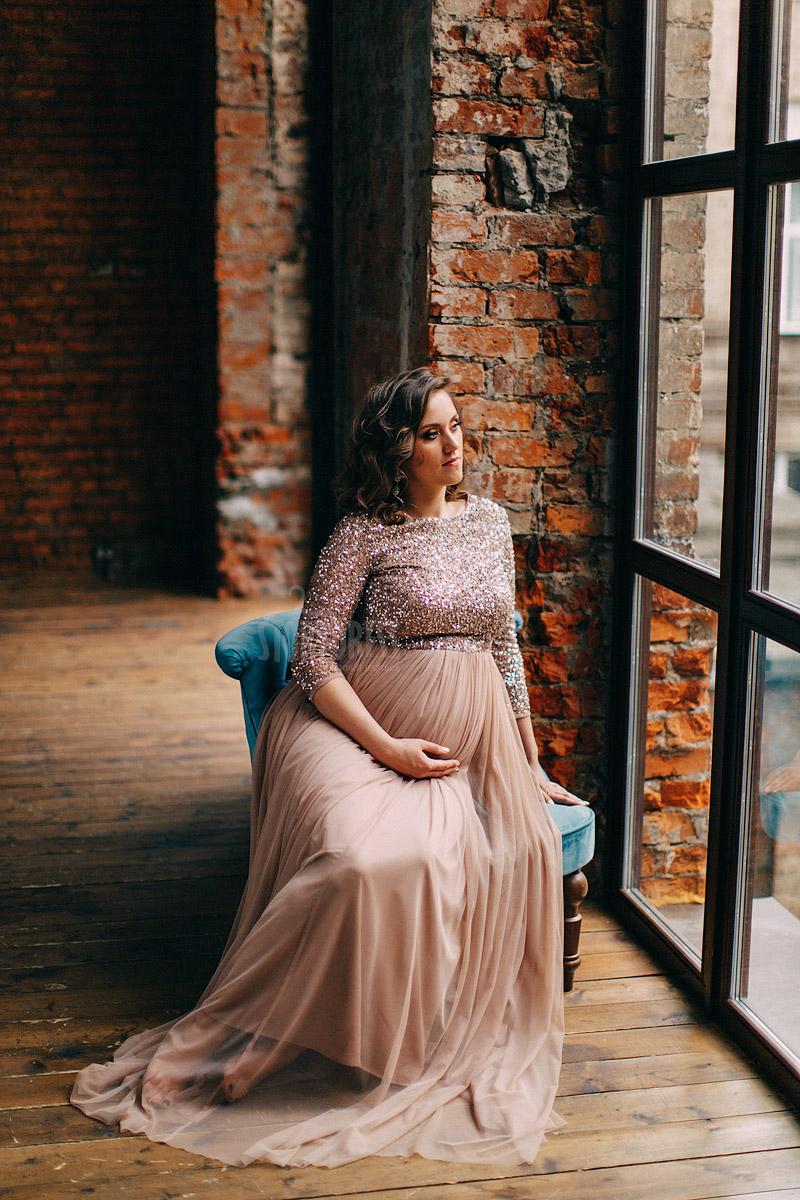 Платья для беременных с шифоновой юбкой