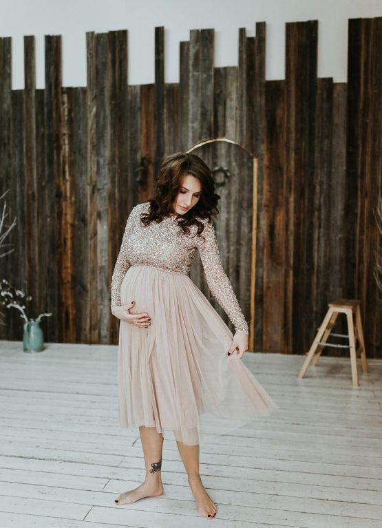 Вечернее платье с рукавами