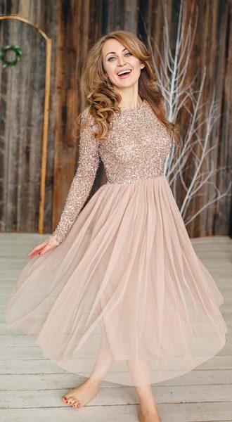Коктейльное платье миди Moonlight